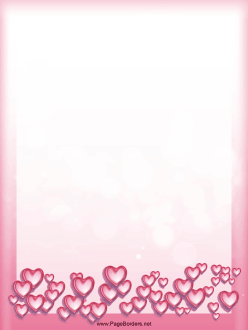 Heart Bubbles Border page border