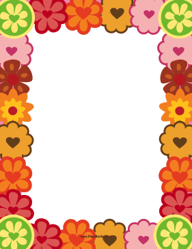 Heart Flower Border page border