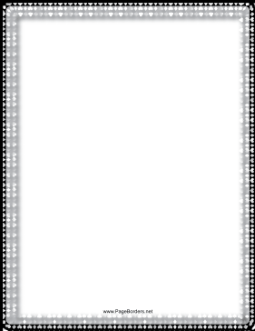 Hearts — Black and White Border page border