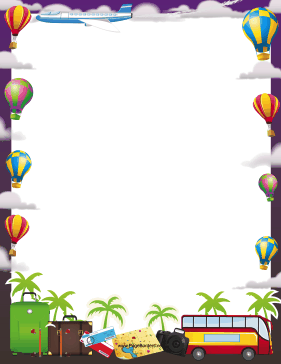 Hot Air Balloons Border page border