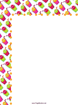 Ice Cream Sodas Party Border page border