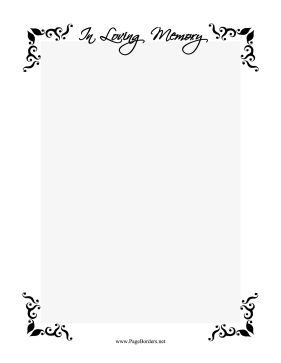 In Loving Memory Border page border