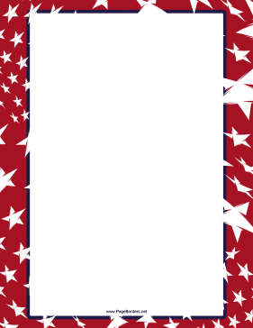 Independence Day Sparkler Border page border