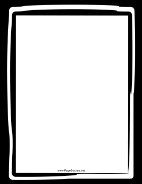 Informal Black and White Border page border