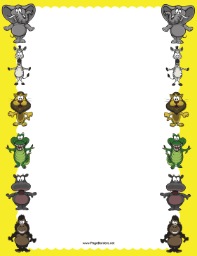 Jungle Animal Border page border