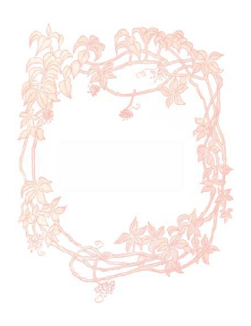 Leafy Red Border page border