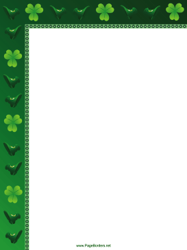 Lucky Shamrocks St Patricks Day Border page border