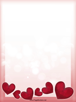 Many Hearts Valentine Border Page Border