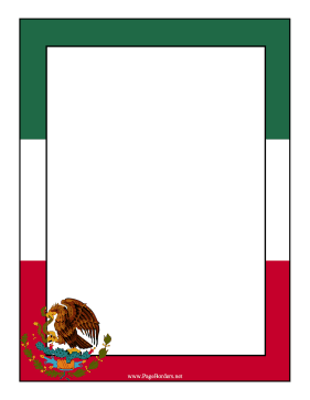 Mexico Flag Border page border