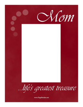 Mom Border Vertical page border