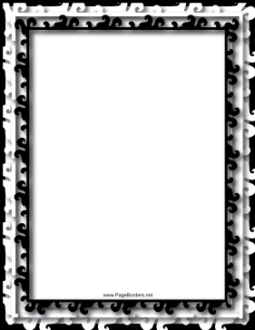 Multilayer Black and White Border page border