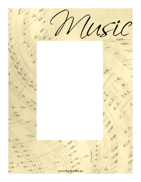 Music Sheet Border Vertical page border