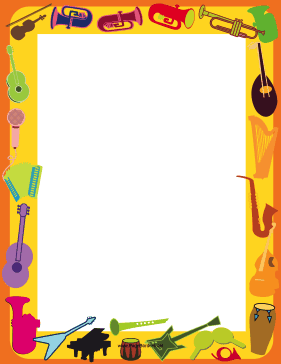 Musical Instrument Border page border