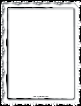 Oak Black and White Border page border