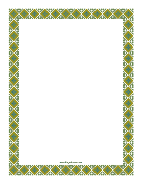 Old Fashioned Green Border page border
