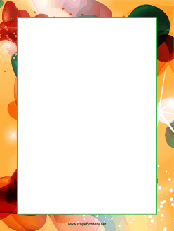Orange Abstract Border page border