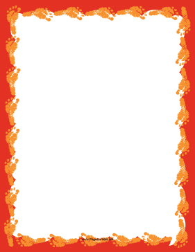 Orange Footprint Border page border
