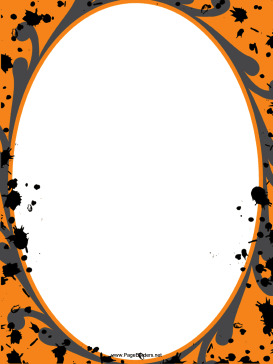 Orange Spatter Halloween Border page border