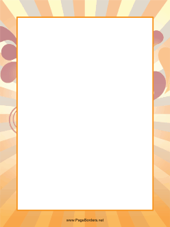 Orange Stripes Border page border