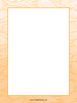 Orange Wave Border page border