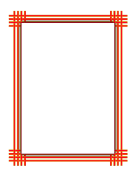 Orange Yellow Weave Border page border