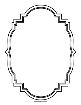 Ornamented Triple Elliptical Border page border