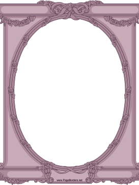 Ornate Oval Border page border