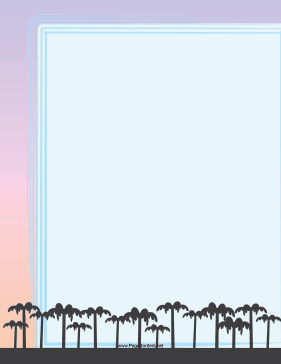 Palm Trees Border page border