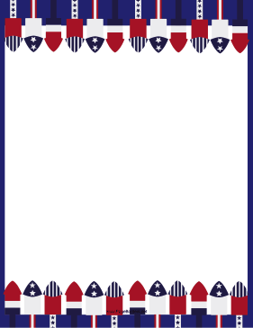 Patriotic Rockets page border
