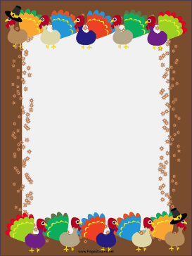thanksgiving page borders microsoft word