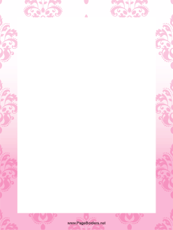 Pink Abstract Border page border