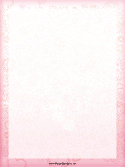 Pink Heart Border page border