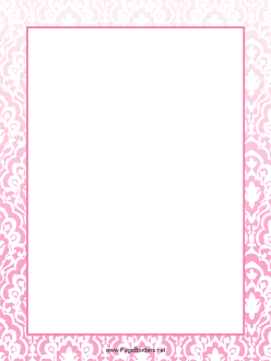 Pink Pattern Border page border