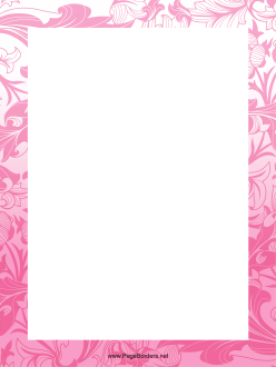 Pink Plant Border page border