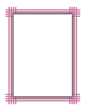 Pink Weave Border page border