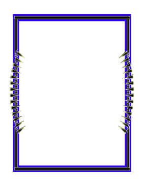 Pointy Blue Border page border