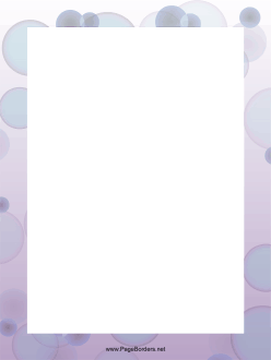 Purple Bubbles Border page border