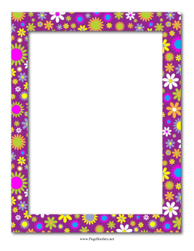 Purple Floral Border page border
