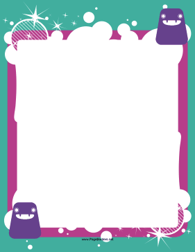 Purple Monster Border page border