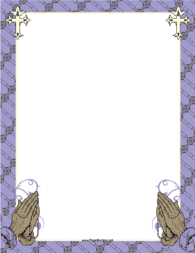 Purple Prayer Border page border
