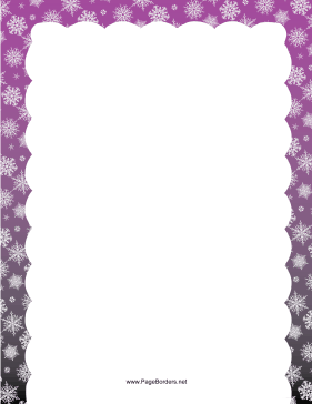 Purple Snowflake Border page border