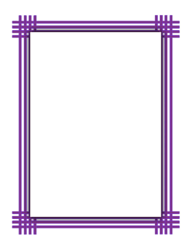 Purple Weave Border page border