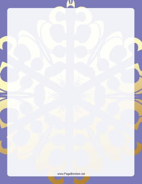 Purple and Gold Snowflake Border page border