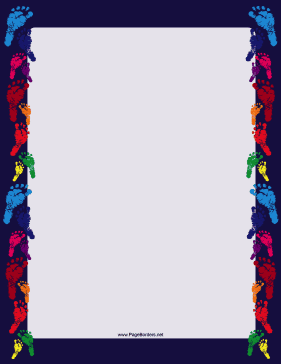 Rainbow Footprint Border page border