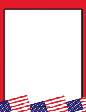 Red American Flag Border page border