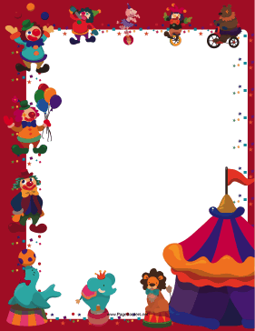 Red Circus Border page border