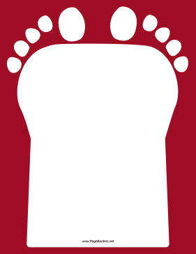 Red Footprint Border page border