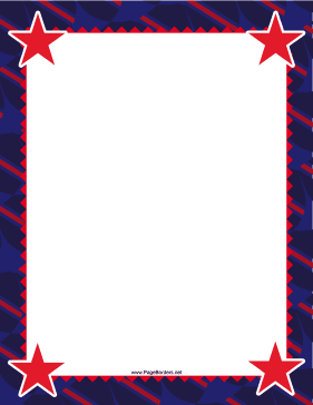 Red Stars Border page border