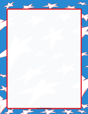 Red White Blue Stars Border page border