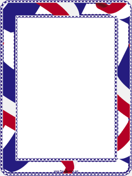 Red White and Blue Border page border